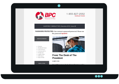 Corporate Newsletter Template Design