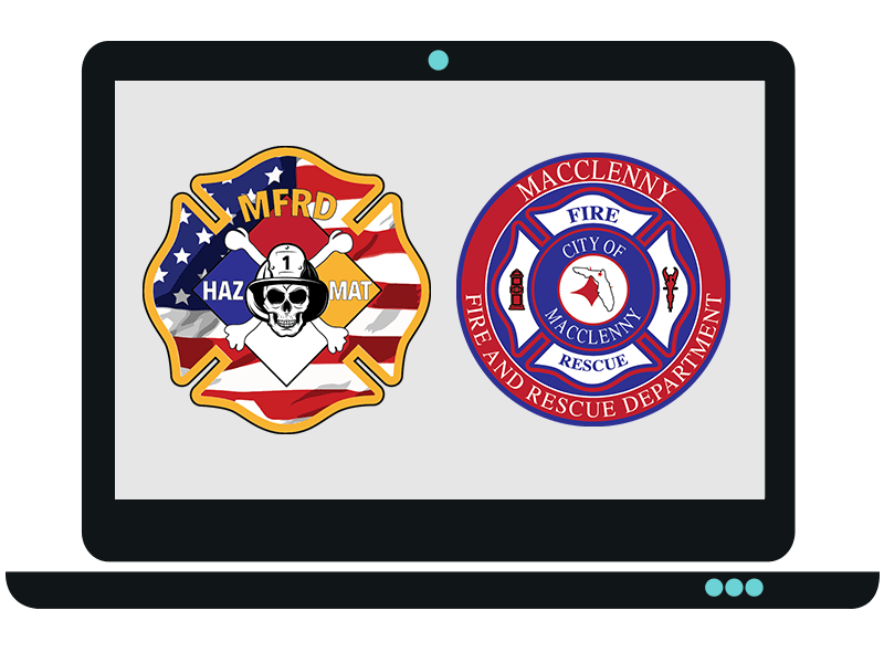 Fire Department Patches Logo Design