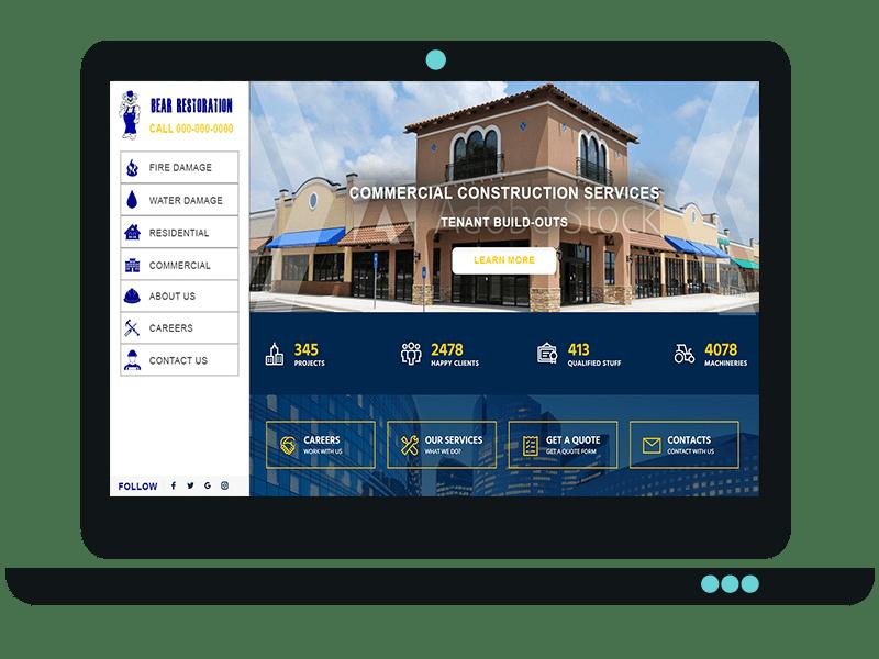 Restoration Company Website