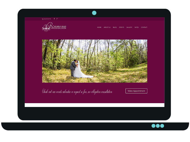 Events Venue Website Design in Jacksonville